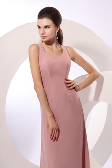 Desirable Ankle Length Dusty Rose Mother Of The Bride Dress
