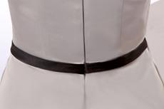 Modern V-Neckline Mini Length Silver Satin Cocktail Dress Under 100