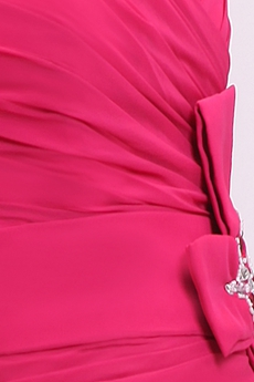 Beautiful Straight Full Length Fuchsia Chiffon Mother Of The Bride Dress With Jacket