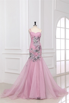 Exquisite Pink Mermaid Celebrity Evening Dresses