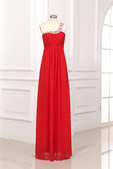 Cheap Red Chiffon Plus Size Evening Dresses