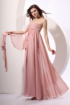 Romantic Empire Dusty Rose Chiffon Maternity Prom Dress
