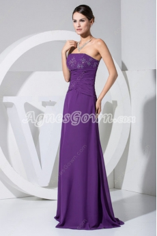 Elegant Violet  Mother Of The Bride Dresses With Beads