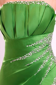 Stunning Strapless Ankle Length Green Junior Prom Gown