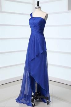 Royal Blue One Shoulder Graduation Ceremony Dresses