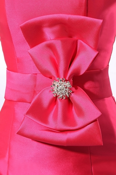 Pretty Sheath Mini Length Hot Pink Nightclub Dress