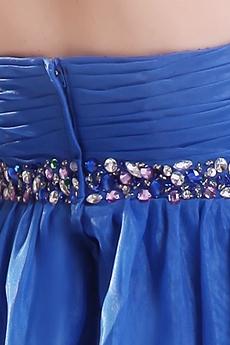 Cute Sweetheart Empire Mini Length Royal Blue Organza Damas Dress