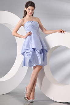 Sassy Puffy Knee Length Lavender Junior Prom Dress