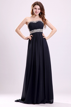 Stylish Shallow Sweetheart Neckline Empire Prom Dress With Great Handwork