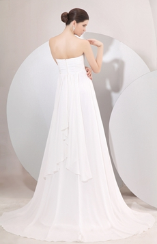 Romantic Shallow Sweetheart Empire Full Length Maternity Wedding Dress