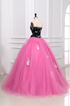 Impressive Colorful Black & Pink Vestidos de Quinceañera Dress