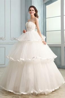 Impressive Sweetheart Neckline Ball Gown 3 Tiered Quinceanera Dress