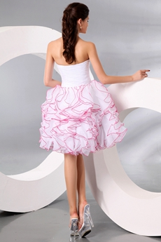 Adorable Sweetheart Ball Gown Mini Length Ruffled Sweet Sixteen Dress