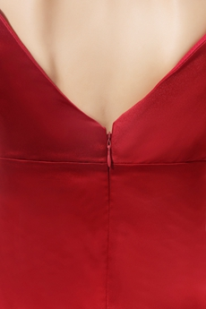 Glamour V-Neckline Ankle Length Burgundy Mother Of The Bride Dress