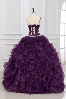 Classy Sweetherat Ball Gown Cinderella Eggplant Quinceanera Gown