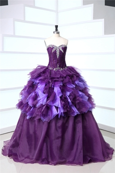 Best Purple Puffy Mitzy Quinceanera Dresses