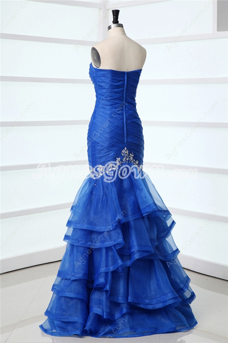 Brilliant Royal Blue Stunning Evening Dresses