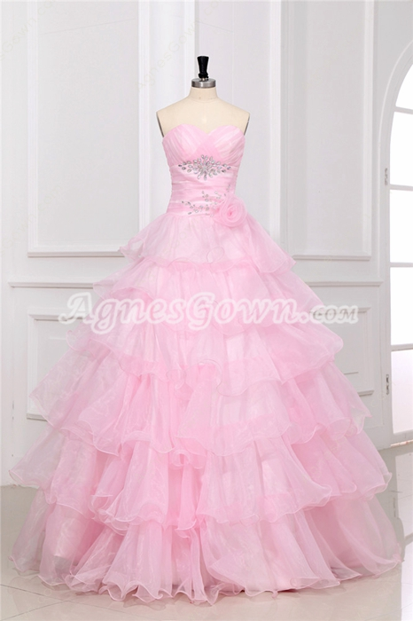 Vintage Pink Quinceanera Dress for Plus Size