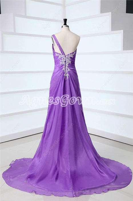 Charming Lavender Unique Evening Dresses