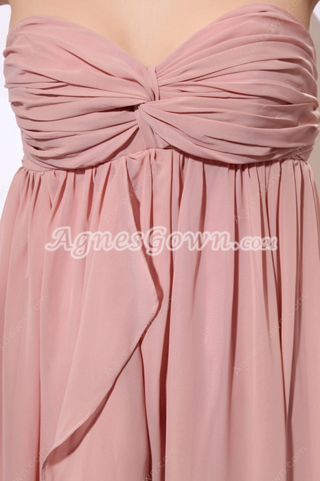 Romantic Empire Dusty Rose Chiffon Maternity Prom Dress