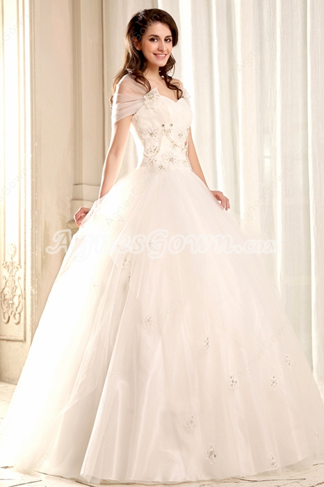 Delish Sweetheart Neckline Ball Gown Quinceanera Dress With Detachable Shawl