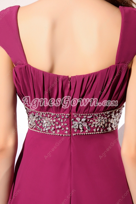 Beautiful Straps A-line Dark Fuchsia Mother Of The Bride Dress
