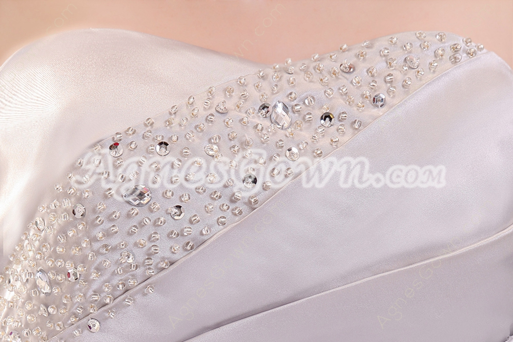 Form-fitting Dipped Neckline A-line Floor Length Silver Pageant Prom Dress Corset Back