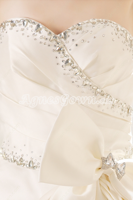 Qualified Sweetheart Neckline Ball Gown Floor Length Plus Size Wedding Dress Corset Back