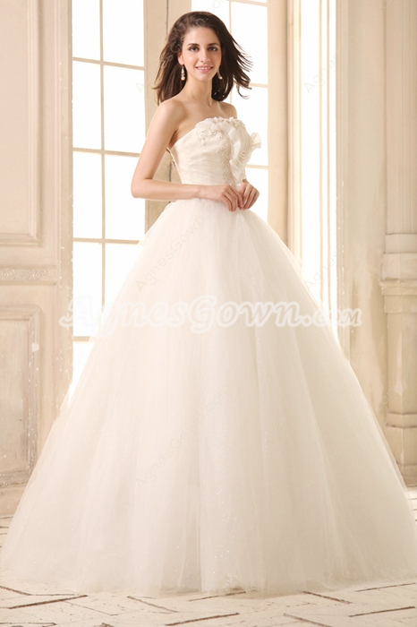 Inexpensive Strapless Ball Gown Vestidos de Quinceanera Dress