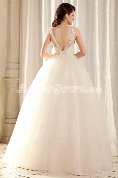 Stunning Jewel Neckline Princess Sweet 15 Dress V-Back