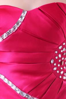 Chic Sweetheart Mini Length Fuchsia Nightclub Dress With Diamonds