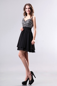 Black Cheap Cocktail Dresses:agnesgown.com