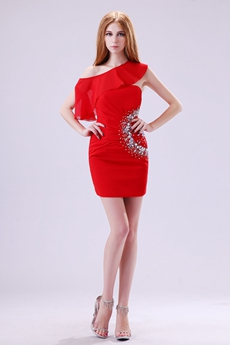 Latest Asymmetrical Straps Sheath Mini Length Nightclub Dress
