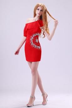 Latest Asymmetrical Straps Sheath Mini Length Nightclub Dress