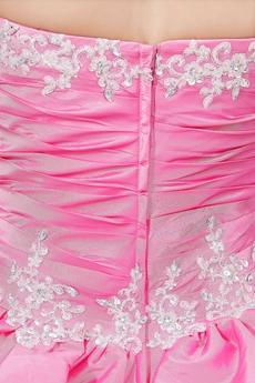 Classic Ball Gown Hot Pink Taffeta Vestidos de Quinceanera Dress