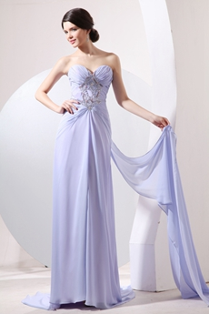 Dazzling Sweetheart A-line Full Length Lavender Formal Evening Dress