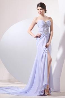 Dazzling Sweetheart A-line Full Length Lavender Formal Evening Dress
