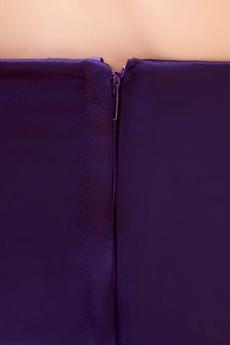 Hot Sheath Mini Length Purple Nightclub Dress With Crystals