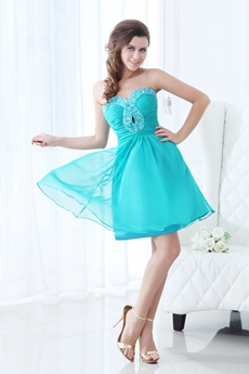 Dapper Mini Length Jade Green Homecoming Dress Cut Out