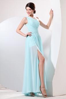 Noble One Shoulder Ankle Length Tiffany Green High School Graduation Dress