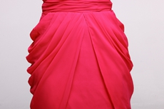 Flattering One Shoulder Mini Length Hot Pink Cocktail Dress