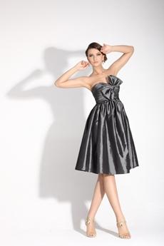 Extraordinary Knee Length Silver Grey Junior Prom Dress