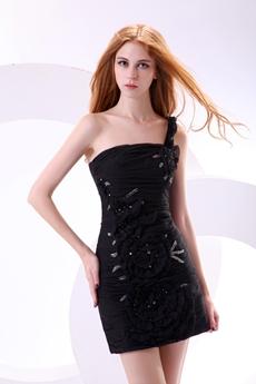 Stunning One Shoulder Black Bandage Dress