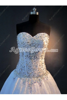 Sexy Beaded Sweetheart Lace Wedding Dresses 2016