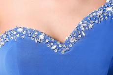 Terrific One Shoulder Royal Blue Chiffon Celebrity Evening Dress