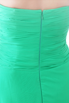 Svelte Sweetheart High Low Green Chiffon Sweet Sixteen Dress