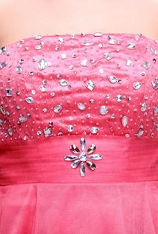 Adorable Puffy Short Length Peach Sweet Sixteen Dress