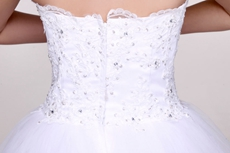 Perfect Strapless Simple White Quinceanera Dress