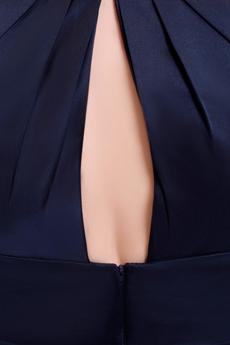 Exquisite Square Neckline Knee Length Dark Navy Wedding Guest Dress