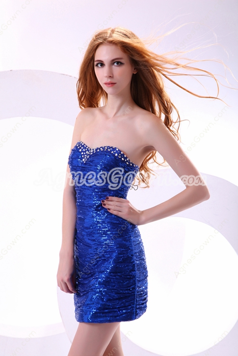 Hot Royal Blue Bandage Dress